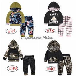 retail INS Xmas Kids Hoodies tops & leopard pants 2pc set floral striped arrow prints cotton set 0-2years,40style choose free ship