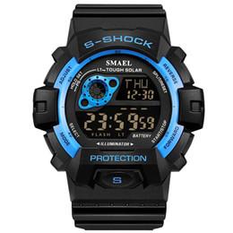 2018 SMAEL Digital Relojes de Pulsera Impermeable Hombres Oudoor Reloj Deportivo Pantalla LED Reloj Despertador Fecha Automático Hombre Reloj Deportivo Corriendo 1446