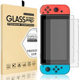 Nintendo Switch Screen Protector, MYECOGO Transparent HD Clear Anti-Scratch Glass 9H Hardness Tempered Glass Screen Protectors for Nintendo