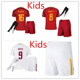 2017 18 Kids Rome Home Away Third Soccer Jerseys Totti Dzeko Nainggolan Futbol Camisa As Football Camisetas Shirt Kit Maillot Roma as roma