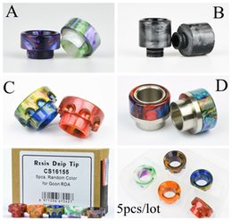 5pcs lot Original Vapjoy 810 510 Thread Epoxy Resin Wide Bore Drip Tip Mouthpiece for TFV8 Prince Big Baby 528 GOON LP
