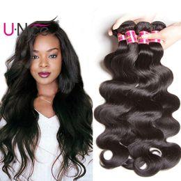 UNice Hair Brazilian Virgin Hair 20 Bundles Raw Indian Body Wave 100% Human Hair Extensions Cheap Remy Peruvian Weave Bundles Bulk Wholesale