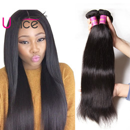 UNice Hair Wholesale 8A Brazilian Virgin Straight Hair Bundles Silk Top Cheap Human Hair Weaves Nice Unprocessed 8-30inch Bulk Bundle