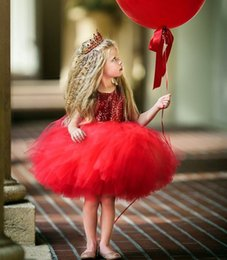 Christmas Red Baby Girls sequined backless love mesh princess dresses Kids Pleated Ball Gown Tutu Dress Children cosplay Party Dancewear