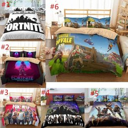 quilt duvets Coupons - Game Fortnite Duvet Cover Twin FUll Queen King Size Quilt Covers Bedding Blanket Cartoon Printed with Couple Pillow Cases Cover 3PCS SET 6 s