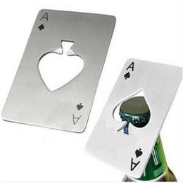 wholesaes hot sale Portable Stainless Steel Poker Ace of Spades Bar Tool Beer Bottle Cap Opener
