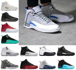 2018 high quality 12 XII mens Basketball Shoes white black Flu Game GS Barons gym red french blue wolf grey Dark grey Sneakers