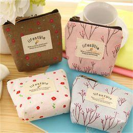 10pcs High Quality Mini Coin Bag Boys Girls Wallet Purse Korean Simple Floral Cartoon Wallet 4 Colors