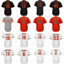Mens Baltimore Jerseys 13 Manny Machado 1 Tim Beckham 19 Chris Davis 6 Jonathan Schoop 45 Mark Trumbo 16 Trey Mancini 23 Joey Rickard Jersey