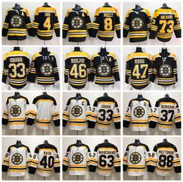 Boston Bruins 73 Charlie Mcavoy Jersey Zdeno Chara Patrice Bergeron Brad Marchand Bobby Orr Cam Neely David Pastrnak Hockey Black White Man