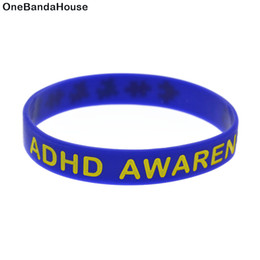 Wholesale 100PCS Lot ADHD Awareness Puzzle Silicone Wristband Bracelet For Chrity Foundation Activity Blue Adult Size