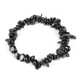 Natural Gem Stone Chip Beads Chakra Black Tourmaline Bracelets for Women Small Size Reiki Healing Meditation Aura Gift