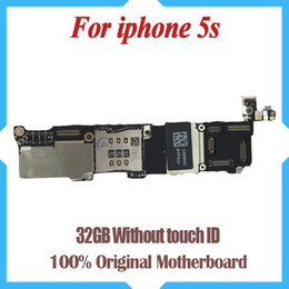 32GB for iPhone 5s motherboard without Touch ID,100% original unlocked for iphone 5s motherboard with Chips by free Shipping