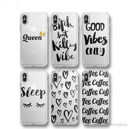 For iPhone X Case For iphone Samsung Huawei Phone New Simple Heart Letter Print Case Cover Can be Retail and Wholesale