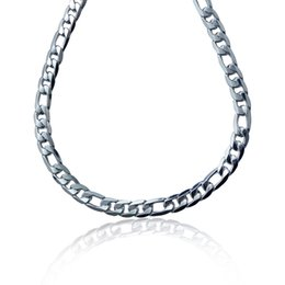 New Men Jewelry 925 Silver 12MM Width Figaro Chain Necklace High Quality Men's Necklace Christmas Gift For Men