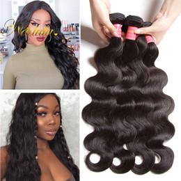 Nadula Brazilian Virgin Hair Bundles Body Wave Human Hair Weave Brazilian Body Wave Human Hair Extensions Remy Human Weave Wave Wholesale