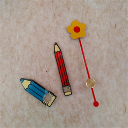Wholesale Hot 50 Sets Colorful Metal Flower Pencil Clock Hands DIY Wall Quartz Clock Repair Accessories