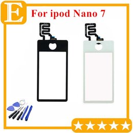 Test Passed original new Touch Digitizer Screen For Apple Ipod Nano 7 touch Screen Digitizer Front Outer Glass Lens Panel Replacement 1PCS