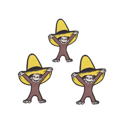 Cartoon popular embroidery Child's clothing patch Cute monkey patch Clothing,DIY clothing package adornment decals can be custom-made