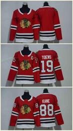 Chicago Blackhawks Jerseys 88 Patrick Kane Jerseys 19 Jonathan Toews Blank Home Red Kids Ice Hockey Jersey Men Women Youth Ladies Boys Girls