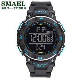SMAE Digital Watches 50m Waterproof Sport Watch LED Casual Electronics Wristwatches 1235 Dive Swimming Watch Led Clock Digital
