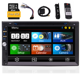 2 Din In Dash Car DVD Stereo CD Player GPS Navigation Radio Video Audio Bluetooth 7'' Capacitive Touchscreen SD,USB,Radio,FM,RDS