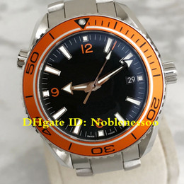 6 Style Classic Model Luxury Watch Mens 42MM Planet Ocean 232.30.42.21.01.002 Orange Bezel black Dial Co-axial 600M Automatic Men's Watches