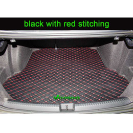Veeleo 9 Colors Custom-Fit Cargo Liner Car Trunk Mats for All Car Trunk Mats Artificial Leather