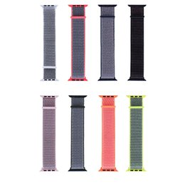 Woven Nylon Sport Loop Bracelet Watch Strap Replacement Watch Band For Apple Watch iwatch Series 1 2 3 4 44mm 40mm 100pcs lot