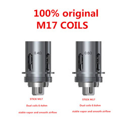 Authentic Stick M17 Coil Head Replacement 0.4ohm 0.6ohm Dual Core for M17 AIO Kit 100% Original