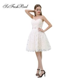 e52f90e028 Elegant Girls Dress Sweetheart Waist With Crystals A Line Mini Short Lace  Party Formal Evening Dresses for Women Prom Dress Gowns