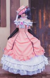 Girls Black Butler Kuroshitsuji Ciel Cosplay Costume Lolita Dress