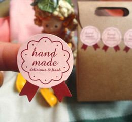 900pcs lot free shipping eco-friendly latest handmade DIY cake package self adhesive sticker label