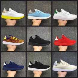 2017 Top Quality Pharrell Williams x Stan Smith Tennis HU Primeknit men women breathable Lightweight Walking Hiking Shoes Eur 36-45