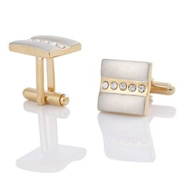 New gold plated double color French cufflinks Gold brushed men's cufflinks Free shipping