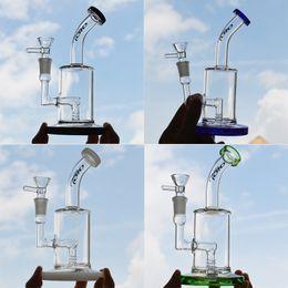 Toro Dab Oil Rig Glass Water Bongs Inline Diffuse Perc Bubbler Beaker Bong Smoking Pipe 7.5 inches Ash Catcher Hookah 14mm Joint