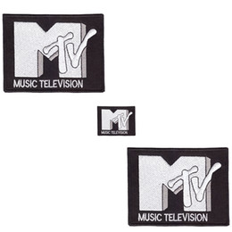 Factory outletMTV RETRO MUSIC TELEVISION Iron On Sew On Patch badge motif DIY clothing decoration paste