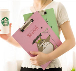 Wholesale Desk Accessories Dragon Cat Splint Folder Cartoon Paper organizer Cute Folder Writing Board Can Hanging With A 28CM Ruler