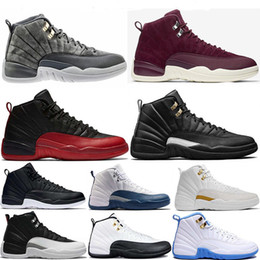 2018 12 the master Dark grey Gym Red flu games french blue taxi playoffs Bordeaux 12s mens Basketball Shoes sports Sneakers