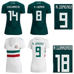 18 19 Mexico Women Soccer Jersey Ladys Top Thai Quality Football Shirts 2018 World Cup CHICHARITO LAYUN LOZANO DOS SANTOS Football Tops Wear