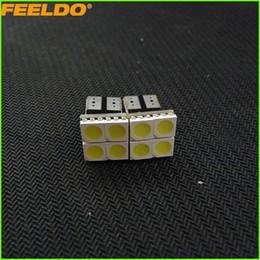 FEELDO 50PCS White T10 194 168 4SMD 5050 Chip Car LED Dome Light #2697