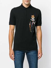 2018 new hot Italian designer polo shirt T shirt luxury brand snake bee flower embroidery men polo high street fashion Polo T-shirt