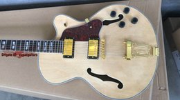 new jazz Electric Guitar Custom hollow jazz Guitar in Natural color Metal Music free shipping