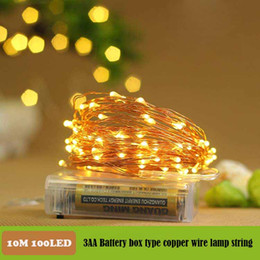 100 LED 33ft 10m Starry Fairy String Light,3AA battery Waterproof Decorative Copper Wire Lights for Indoor, Bedroom Festival Christmas