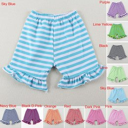 Trendy Boutique Baby Clothing Lovely Kids Grey Single Ruffles Knee Shorts Girls Game Day Ruffle Pants