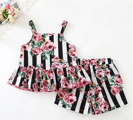 New Arrival Girls Fashion Two Piece Tops + Pants Baby Girls Clothing Sets Cool Europe United States 2019 Baby Kids Children's Clothes
