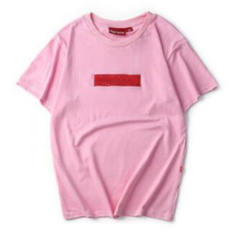 Crew Neck Pink T-shirt Summer New Men Women Tee Hip Hop Casual T-shirt 9 Colors