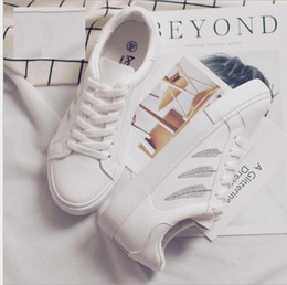 new spring summer and autumn woman causal student running Skateboard shoes lace up Microfiber Leather shoes US SIZE 4.5-8 8070