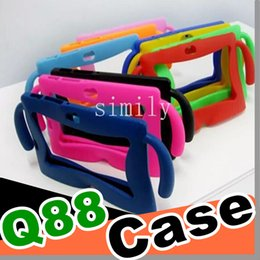 100pcs 7 colors Kids Soft Silicone Rubber Gel Case Cover For Q88 A13 A23 A33 Q8 Android Tablet PC