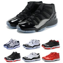 Wholesale 2018 Mens and Womens 11S Basketball Shoes XI Men Women cap and Gown Gym Red Bred 11 Athletic Sports Sneakers